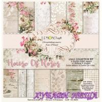 "Дизайнерско блокче 12x12""- House Of roses 6 л. двустр"