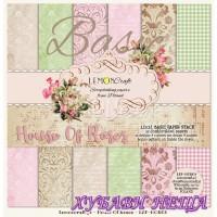 "Дизайнерско блокче 12x12""- Basic House Of roses 12 л. двустр"