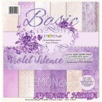 """Дизайнерско блокче 12x12""""- Basic Violet Silence 12 л. двустр"""