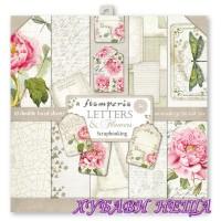 Дизайнерско блокче 30x30 Letters & Flowers- 10л. двустр.