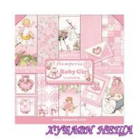 Дизайнерско блокче 30,5x30,5 Baby Girl 10л. двустр.