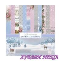 """Дизайнерско блокче 12x12""""- Winter Wonderland 14 листа"""