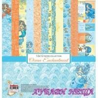 """Дизайнерско блокче 12x12""""- Ocean Enchantment 8 л. двустр"""