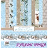 """Дизайнерско блокче 12x12""""- A Taste of Winter 14 листа"""