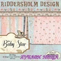 Дизайнерско блокче 6x6'' Be a Baby Star- 30л