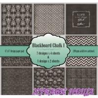 """Дизайнерско блокче 6x6""""- Blackboard Chalk I 30листа"""