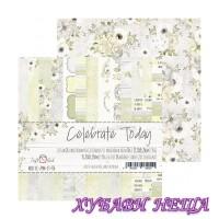 Дизайнерско блокче 6x6'' Celebrate Today  26л. двустр.