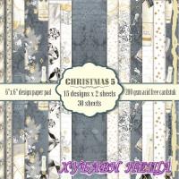 Дизайнерско блокче 6 x 6'' Christmas 5- 30л
