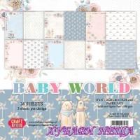 Дизайнерско блокче 6x6''  Baby World 36л