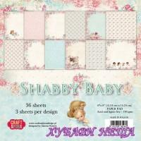Дизайнерско блокче 6x6''  Shabby Baby 36л