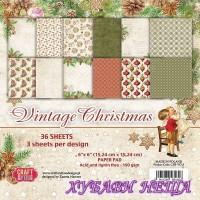 Дизайнерско блокче 6x6''  Vintage Christmas 36л