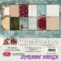 Дизайнерско блокче 6x6'' CPB-WC15- White Christmas 36л