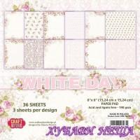 Дизайнерско блокче 6x6''  White Day 36л