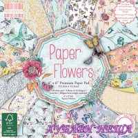 Дизайнерско блокче 6''х 6'' Paper Flowers- 64 листа