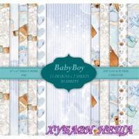 """Дизайнерско блокче 6x6""""- Baby Boy 30 листа"""