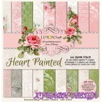 "Дизайнерско блокче 6x6""- Heart Painted 36 листа"