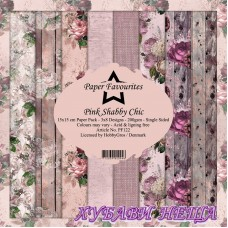Дизайнерско блокче 6x6'' Pink Shabby Chic  24л.
