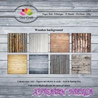 Дизайнерско блокче 6x6'' Wooden Background- 32л