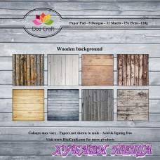 Дизайнерско блокче 6 x 6'' Wooden Background- 32л
