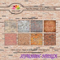 Дизайнерско блокче 6 x 6'' Bricks Background- 32л