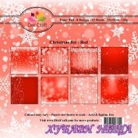 Дизайнерско блокче 6 x 6'' Christmas Joy / Red- 32л