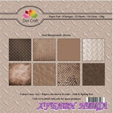 Дизайнерско блокче 6 x 6'' Steel Background / Brown- 32л