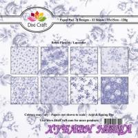 Дизайнерско блокче 6 x 6'' Retro Flowers / Lavender- 32л
