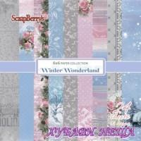 """Дизайнерско блокче 6x6""""- Winter Wonderland 24 листа"""