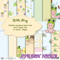 Дизайнерско блокче 20x20 Little Frog- 14листа