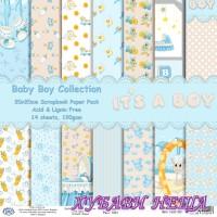 Дизайнерско блокче 20x20 Baby Boy Collection- 14листа