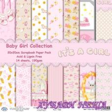 Дизайнерско блокче 20x20 Baby Girl Collection- 14листа