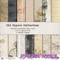 Дизайнерско блокче 20x20см Old Papers- 14л.