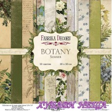 Дизайнерско блокче 20x20 Botany Summer 10л. двустр.