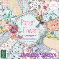 """Дизайнерско блокче 8 x 8"""" Paper Flowers 48 листа"""