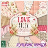 Дизайнерско блокче 8x8 Love story- 48 листа