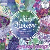 """Дизайнерско блокче 8 x 8"""" Wild Flower 48 листа"""