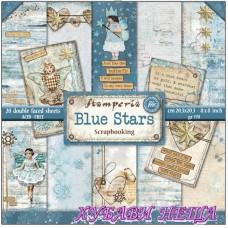 "Дизайнерско блокче 8x8"" Blue Stars 20л. двустр."