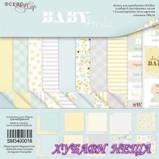 Дизайнерско блокче 20x20 Smile Baby 10л двустр.