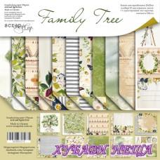 Дизайнерско блокче 20x20 Family Tree 11л двустр.