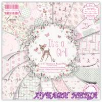Дизайнерско блокче 6''х 6''- It's a Girl