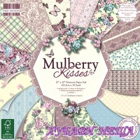 Дизайнерско блокче 30.5х30.5см Mulberry Kisses- 48 листа