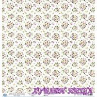 Дизайнерски картон 30x30cm 190gr - Romantic Purple 01
