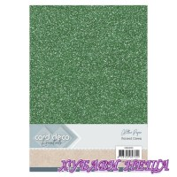 Глитерен картон A4 Forrest Green- 1лист