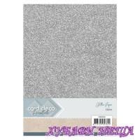 Глитерен картон A4 Silver- 1лист