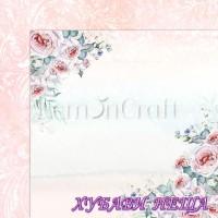 Дизайнерски картон лист 30.5x30.5cm Blush 04 двустр.