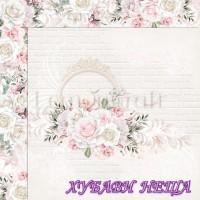 Дизайнерски картон лист 30.5x30.5cm Елегантност 04 двустр.