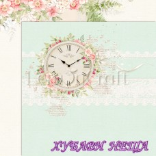 Дизайнерски картон лист 30.5x30.5cm Raspberry Garden 05 двустр.