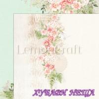 Дизайнерски картон лист 30.5x30.5cm Raspberry Garden 06 двустр.