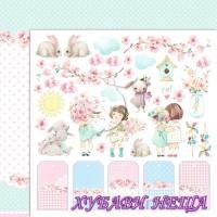 Дизайнерски картон лист 30.5x30.5cm Малкият свят на момичетата 04 двустр.
