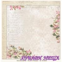 Дизайнерски картон 30.5x30.5cm Houses Of Roses 03